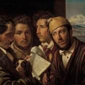 Orest Kiprenski, Zeitungsleser in Neapel, 1831 Öl auf Leinwand, 64,5 × 78,3 cm  © Staatliche Tretjakow-Galerie, Moskau