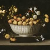 Juan de Zurbarán, Birnen in Porzellanschale, um 1645, Öl auf Leinwand, 82,6 × 108,6 cm, The Art Institute of Chicago, Wirt D. Walker Fund, © The Art Institute of Chicago