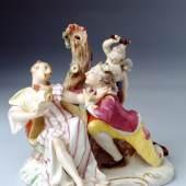 Der stürmische Galan, Nymphenburger Porzellanfigur von Franz Anton Bustelli (gest. 1763), um 1760, Sammlung Ludwig Bamberg ©Museen der Stadt Bamberg