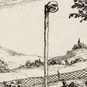Jacques Callot, Le Ciel veille pour toy (Der Himmel wacht für Dich), 1628, Kupferstich © Kupferstichkabinett, Staatliche Museen zu Berlin / Foto: Dietmar Katz