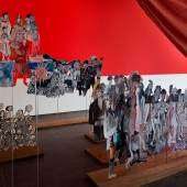 Anna Boghiguian Un toute petite histoire de Nîmes, 2016 (Eine winzig kleine Geschichte von Nîmes) Ausstellungsansicht Castello di Rivoli Museo d'Arte Contemporanea, Rivoli-Turin, 2017, Courtesy die Künstlerin Foto: Renato Ghiazza