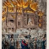 Der Wiener Ringtheater-Brand 1881 Schließen  Der schlimmste Theaterbrand des 19. Jahrhunderts Kolorierte Lithografie