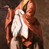 Francisco de Zurbarán, Santa Lucía, um 1645-1650, Öl auf Leinwand, 183 × 111,5 cm, The Hispanic Society of America, New York (A94), © Courtesy of The Hispanic Society of America, New York