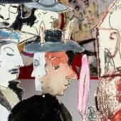 Anna Boghiguian Un toute petite histoire de Nîmes, 2016 (Eine winzig kleine Geschichte von Nîmes), Detail Ausstellungsansicht Castello di Rivoli Museo d'Arte Contemporanea, Rivoli-Turin, 2017, Courtesy die Künstlerin Foto: Renato Ghiazza