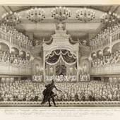 Die Amsterdamer Schauburg 1768 Schließen  Theater im Kerzenschein Kupferstich