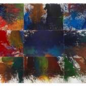 Hermann Nitsch  Unter den Bergen Schüttbilder aus den Jahren 2006 – 2007 Acryl auf Leinwand je 200 x 300 cm (gesamt 600 x 900 cm)