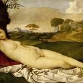 Giorgione/Tizian, Schlummernde Venus, um 1508/10 © Gemäldegalerie Alte Meister, Staatliche Kunstsammlungen Dresden, Foto: Estel/Klut