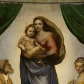 Madonna mit dem Jesuskind, am unteren Rand die zwei Engel