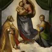 Raffael, Die Sixtinische Madonna, 1512/13 © Gemäldegalerie Alte Meister, Staatliche Kunstsammlungen Dresden, Foto: Estel/Klut