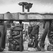 Ausstellungsansicht Brandenburge Tor- Weltfrage Jörg Immendorf documenta 7 1982 Bildrecht siehe Dokument