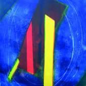 Azzuro-Rosso, Farbradierung 98 x 72 cm (Papierformat 113 x 82 cm), 1993
