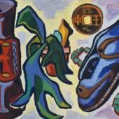 Karl Schmidt-Rottluff (1884-1976): Geweihfarn in der Mitte, 1957, Brücke-Museum Berlin, Karl und Emy Schmidt-Rottluff Stiftung, © VG Bild-Kunst, Bonn 2017