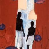 Daniel Kojo Schrade - By any means, 2018, Acryl und Öl auf Leinwand, 182 x 132 cm