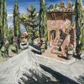 Christopher Lehmpfuhl - Villa im Morgenlicht, 2015, Öl auf Leinwand, 150 x 170 cm