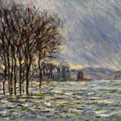Claude Monet (1840-1926): Hochwasser, 1881, Arp Museum Bahnhof Rolandseck / Sammlung Rau für UNICEF, Remagen, Photo: Peter Schälchli, Zürich