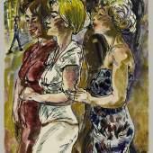 Egmont Schaefer, Spaziergang, um 1980, Aquarell und Tuschfeder auf Papier, 29,7 x 21 cm, © Berliner Kabinett e.V., Foto: Kai-Annett Becker
