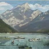 Gruss vom Leopoldsteiner-See o. D., Foto: Kurka, Eisenerz, Sammlung Kubinzky