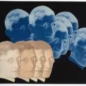 """Porträt Josef Albers, Positiv-Negativ-Collage, aus """"9 jahre bauhaus. eine chronik"""" (Abschiedsgeschenk der Bauhäusler für Walter Gropius), 1928, Bauhaus-Archiv Berlin"""