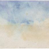 Peter Schata - Gewitter, 1981, Aquarell, 95 x 143