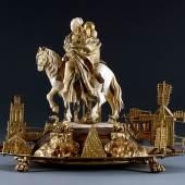 Zigeunerin zu Pferde, Elfenbeingruppe: wohl in Dresden tätiger Künstler, Juwelierarbeit: wohl Johann Christoph Neßler, Dresden, um 1710–1715, Inv.-Nr. VI 220