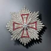 Bruststern des Polnischen Weißen Adler-Ordens aus der Brillantgarnitur Jean Jacques Pallard Genf/Wien zwischen 1746 und 1749 Inv.-Nr. VIII 23