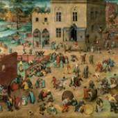 Kinderspiele (1.8 MB) Pieter Bruegel d. Ä. (um 1525/30 ‒ 1569) 1560, Eichenholz, 118 × 161 cm Kunsthistorisches Museum Wien, Gemäldegalerie © KHM-Museumsverband