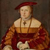 Bildnis der Ehefrau des Ulrich Ehinger, Ursula Meuting (gest. 1588)