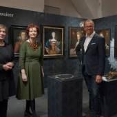 v.l.n.r.: Luise Kloos (Gestalterin), Barbara Kaiser (Kuratorin) und Wolfgang Muchitsch (wissenschaftlicher Leiter Universalmuseum Joanneum), Foto: Universalmuseum Joanneum/N. Lackner