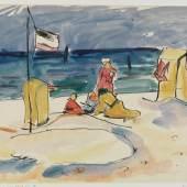 Erich Heckel, Am Strand (Prerow), 1911 © Nachlass Erich Heckel, Hemmenhofen