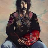 John Byrne, John Patrick Byrne, Selbstporträt in geblümter Jacke, 1971-1973, Scottish National Portrait Gallery © The Artist /