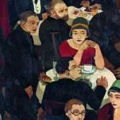 Abbildung: Josef Scharl (1896-1954), Blinder Bettler im Café, 1927, Öl auf Rupfen (c) Susanne Fiegel