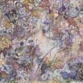 Karin Pliem, Foresta tropicale in conflitto II, 2021, Öl auf Leinwand, mittlerer Teil eines Triptychons, 230 x 250 cm (Triptychon gesamt: 230 x 750 cm)
