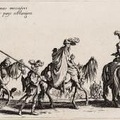 "Zigeuner zu Pferde aus der Folge ""Les Bohémiens"", Jacques Callot, wohl 1621 oder 1621–1625, Radierung, Inv.-Nr. A 59021"