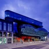 Kunsthaus Graz, Nachtaufnahme, Foto: Universalmuseum Joanneum/Eduardo Martinez