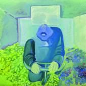 Maria Lassnig, Brettl vorm Kopf, 1967, Sammlung Klewan, © Maria Lassnig Stiftung