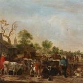 Cornelis Saftleven Viehmarkt   Schätzpreis: € 15.000 - € 20.000