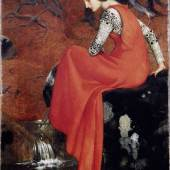 "Marianne Stokes, ""Melisande"", 1895,  Öl auf Leinwand, 87 x 52 cm, Wallraf-Richartz-Museum & Fondation Corboud, Köln, Foto: Rheinisches Bildarchiv Köln"