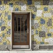 """Mosaik """"Abstrakte Feldeinteilung"""" von Rotraut Brauneis, 1956, August-Fürst-Hof © Stephan Doleschal / Mid-Century Vienna"""