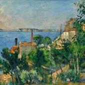 Paul Cézanne (1839-1906): Das Meer bei L'Estaque, 1876, Arp Museum Bahnhof Rolandseck / Sammlung Rau für UNICEF, Remagen, Photo: Peter Schälchli, Zürich