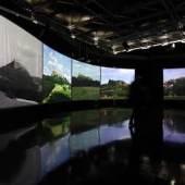 Innenansicht, mobiler Pavillon, Foto: Universalmuseum Joanneum/J.J. Kucek