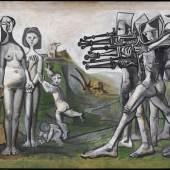 Pablo Picasso, Massaker in Korea, 1951, Musée Picasso Paris, © Succession Picasso/VG Bild-Kunst, Bonn 2020, Foto: © RMN-Grand Palais / Mathieu Rabeau