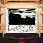 Pierre Alechinsky, Loin d'ici, Eiserner Vorhang, 2018/2019, Wiener Staatsoper, museum in progress