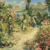 Pierre-Auguste Renoir, Das Gewächshaus (La Serre The Greenhouse), um 1876, Leihgabe aus Privatbesitz, Foto: © Staatsgalerie Stuttgart