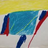 Ohne Titel, Gouache/ Papier, 1968, 24 x 31 cm