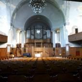 Innenraum in der Philippuskirche in Leipzig-Lindenau © Deutsche Stiftung Denkmalschutz/Schalinksi