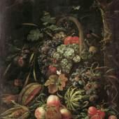 Abraham Mignon (1640 –1679), Stillleben mit Fruchtkorb an einer Eiche, um 1670, Öl auf Leinwand, Museum Kunstpalast, Inv. Nr. M 59, Foto Inken Holubec