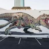 Nychos, Translucent T-Rex, Oakland 2018, Foto: Hannes Kreuzer
