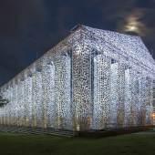 Marta Minujín, The Parthenon of Books, 2017, Stahl, Bücher, Kunststoffolie, Friedrichsplatz, Kassel, documenta 14, Foto: Roman März