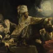 Rembrandt, Das Gastmahl des Belsazar, Öl auf Leinwand, um 1636, London National Gallery