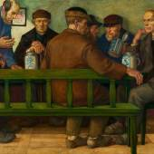 Rudolf Schiestl (1878 – 1931)  Bauerntisch | 1919 | Mischtechnik auf Holz | 70 x 110 cm Ergebnis: € 16.770